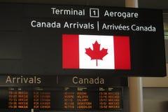 Arrivée de Canada Photos stock