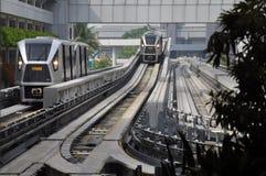 Arrivée de Skytrain Photographie stock