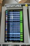 Arrivée et départs sur le conseil de l'information Image stock