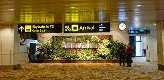Arrivée Hall à l'aéroport de Changi à Singapour Photographie stock