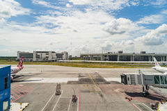Arrivée Hall en Kuala Lumpur International Airport 2 Malaisie Photos stock