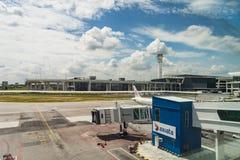 Arrivée Hall en Kuala Lumpur International Airport 2 Malaisie Photos libres de droits