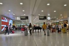 Arrivées d'aéroport de Londres Heathrow Photo libre de droits