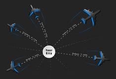 arrivées et vols réguliers de départs Images libres de droits