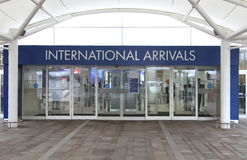 Arrivées internationales Glasgow Images stock
