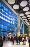 Arrival aria of Heathrow airport Terminal 5. London Stock Image