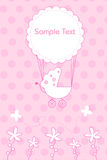 Arrival of baby announcement Royalty Free Stock Images