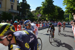 Arrival in Bergamo stage of the 100th edition of Giro d`Italia annual multiple-stage bicycle race recognizable to cyclists Yates Royalty Free Stock Image
