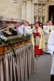 Arrival of the body of St. Leopold Mandic in Zagreb Cathedral. Croatia Royalty Free Stock Image