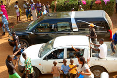 ARRIVAL OF THE DEATH OF THE MOTHER OF THE EX PRESIDENT LAURENT GBAGBO Stock Images