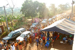 ARRIVAL OF THE DEATH OF THE MOTHER OF THE EX PRESIDENT LAURENT GBAGBO Royalty Free Stock Image