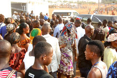ARRIVAL OF THE DEATH OF THE MOTHER OF THE EX PRESIDENT LAURENT GBAGBO Royalty Free Stock Photography
