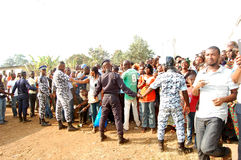 ARRIVAL OF THE DEATH OF THE MOTHER OF THE EX PRESIDENT LAURENT GBAGBO Stock Photography