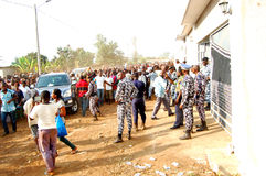 ARRIVAL OF THE DEATH OF THE MOTHER OF THE EX PRESIDENT LAURENT GBAGBO Stock Photo