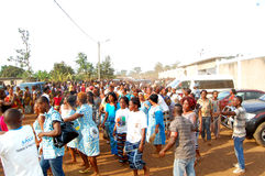ARRIVAL OF THE DEATH OF THE MOTHER OF THE EX PRESIDENT LAURENT GBAGBO Royalty Free Stock Photo