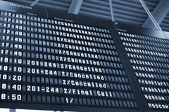 Arrival Departure Board Stock Image