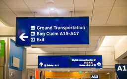 Arrival and departure gates sign Stock Image