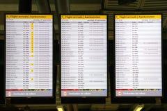 Arrival departure information Stock Photos