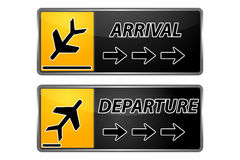 Arrival and departure tags Stock Photo
