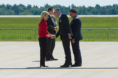 Arrival of the Federal Minister of Defence of Germany. BERLIN, GERMANY - MAY 21, 2014: Arrival of the Federal Minister of Defence of Germany, Ursula von der Stock Photography