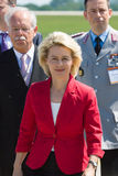 Arrival of the Federal Minister of Defence of Germany. BERLIN, GERMANY - MAY 21, 2014: Arrival of the Federal Minister of Defence of Germany, Ursula von der Stock Photo