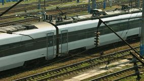 Arrival of high-speed train. stock video