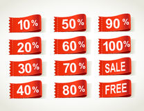 Arrival label sale percents Stock Photo