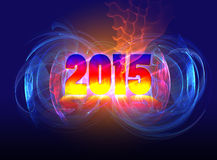 Arrival of 2015. Arrival. Layout of cover the calendar for 2015 Royalty Free Stock Photo
