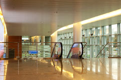 Arrival lounge of the international airport Royalty Free Stock Photo