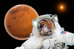 Arrival on Mars - Elements of this image furnished by NASA Royalty Free Stock Photos