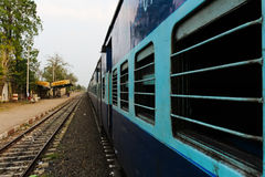 Windows of arriving train in india Royalty Free Stock Photo