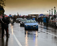 The arrival of the President in the pouring rain Stock Photography