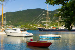 The arrival of the sailing ship tenacious in the windward islands Royalty Free Stock Photography