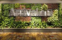 Arrival Sign. In Singapore Changi airport Royalty Free Stock Images
