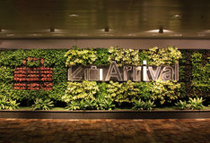 Arrival sign at Changi Airport Singapore Royalty Free Stock Photo