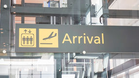 Arrival signboard in the airport Stock Images