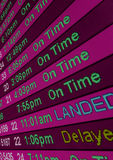 Arrival Times. Airline arrival times at an airport displayed on a computer monitor stock photography