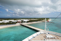 Arrival to Grand Turk Royalty Free Stock Photography
