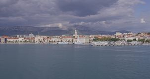 Arrival to Split by boat stock video