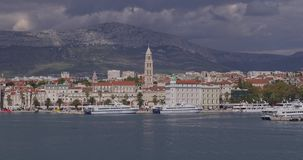 Arrival to Split by boat stock video footage