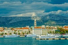 Arrival to Split by boat Royalty Free Stock Photo