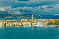 Arrival to Split by boat Stock Image