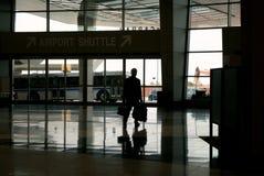 Arrival at travel destination. Arrival at  travel destination (rent a car terminal Royalty Free Stock Photos