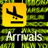 Arrivals. Sign - a computer generated image Stock Photography
