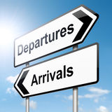 Arrivals and departures. Stock Images