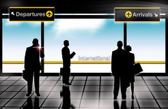 Arrivals departures lounge airport Royalty Free Stock Photo