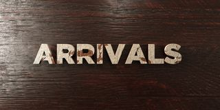 Arrivals - grungy wooden headline on Maple  - 3D rendered royalty free stock image Royalty Free Stock Photography
