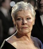 Arrivals At The Orange British Academy Film Awards. Actress Dame Judi Dench arrives at The Orange British Academy Film Awards at the Royal Opera House on Royalty Free Stock Image