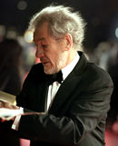 Arrivals At The Orange British Academy Film Awards. Sir Ian McKellen arrives at the Orange British Academy Film Awards in London's Royal Opera House on February Royalty Free Stock Image