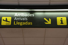 Arrivals sign Stock Image